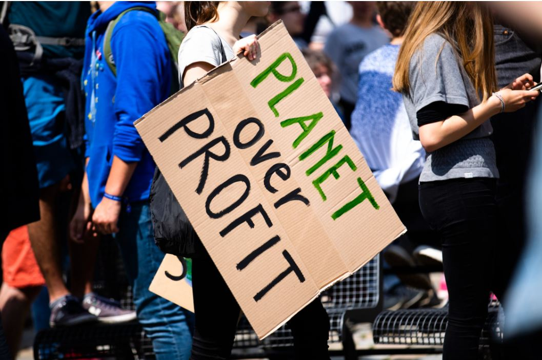 protest on global warming