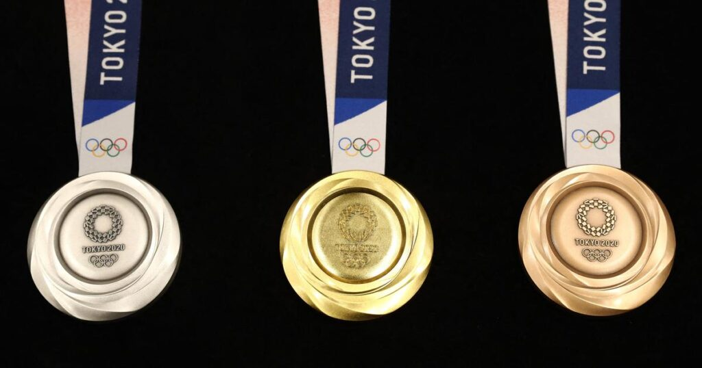 Tokyo's Olympic medals were made from recycled materials